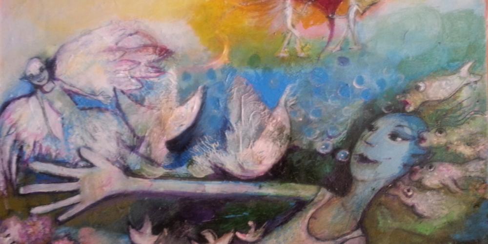 Pintura acrilica sobre lienzo,